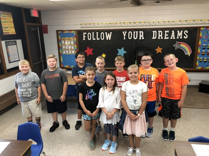 North Elementary 4th graders (2018).