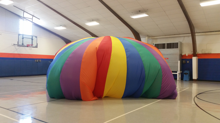 Parachute day in PE.